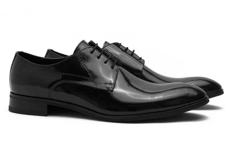 Pantofi ceremonie negri piele naturala