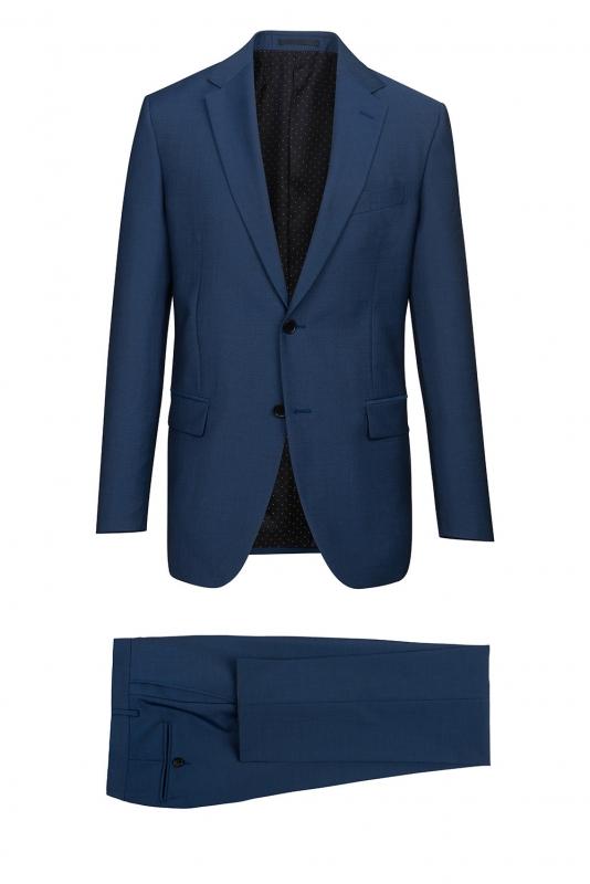 Costum superslim ricco albastru  uni