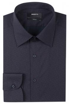 Slim Navy Floral Shirt