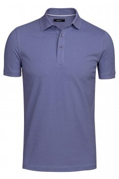 Tricou polo slim mov uni