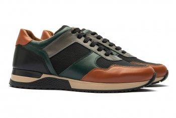 Sneakers Multicolori Piele Naturala si Textil