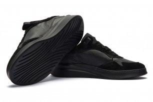 Sneakers Negri Piele naturala si piele intoarsa
