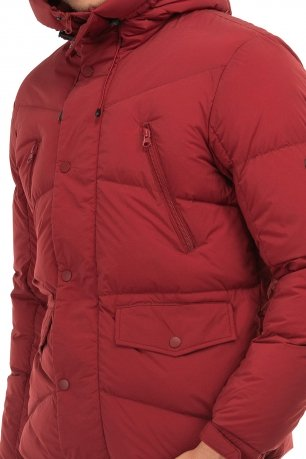 Jacheta  slim rosie cu puf