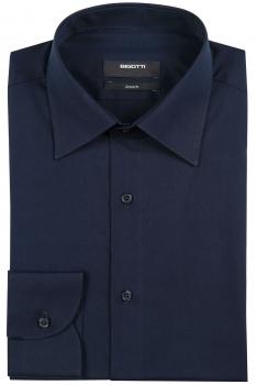 Slim Navy Plain Shirt