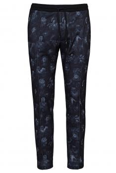 Slim body Black Geometric Trouser