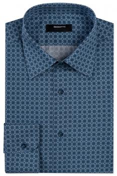Shaped Blue Floral Shirt