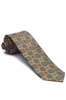 Yellow Geometric Tie