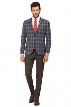 Brown Plain Trouser