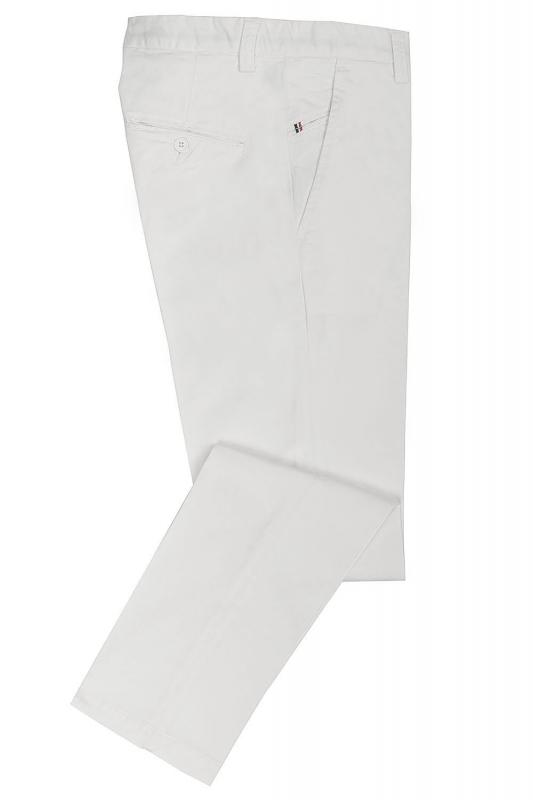 Pantaloni albi uni