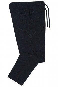 Pantaloni slim Bleumarin cu Dungi