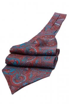 Burgundy Floral Ascot tie