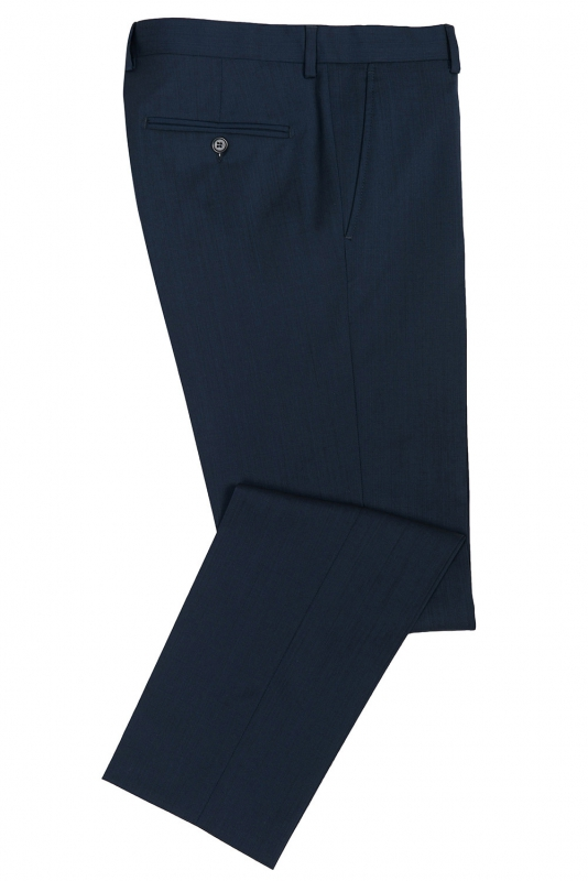 Pantaloni slim conti albastri uni