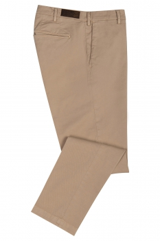 Regular Beige Plain Trouser