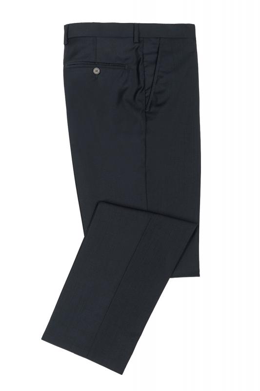 Pantaloni slim erico bleumarin uni