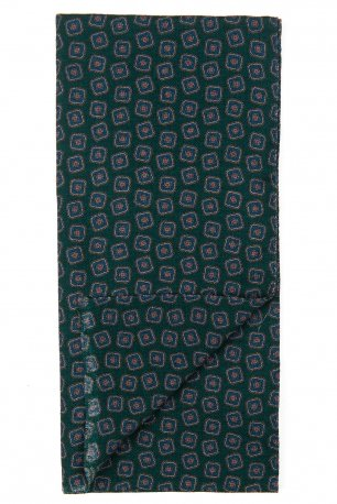 Esarfa verde print geometric