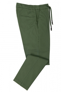 Slim body Green Plain Trouser