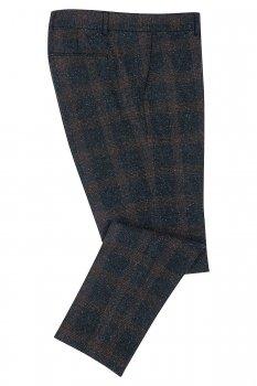 Pantaloni slim Bleumarin in Carouri