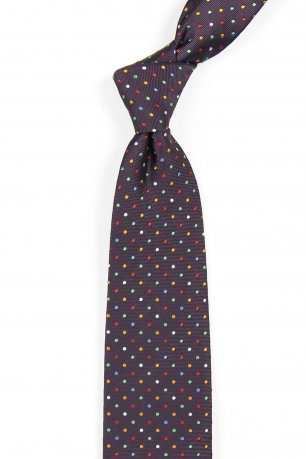 Cravata mov print geometric