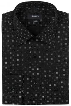 Slim Black Geometric Shirt