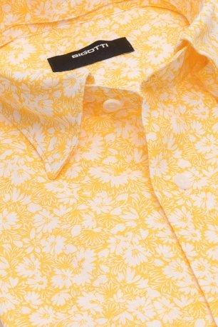 Camasa shaped din in galbena print floral