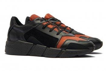 Sneakers Oranj Piele si textil