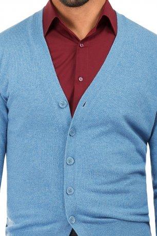Cardigan slim bleu