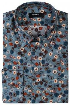 Camasa Slim Bleu print Floral