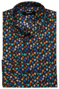 Camasa Shaped Bleumarin print Geometric