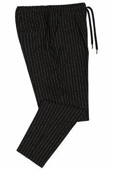Pantaloni slim Gri cu Dungi
