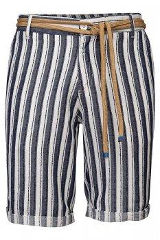 Pantaloni scurti Albi cu Dungi