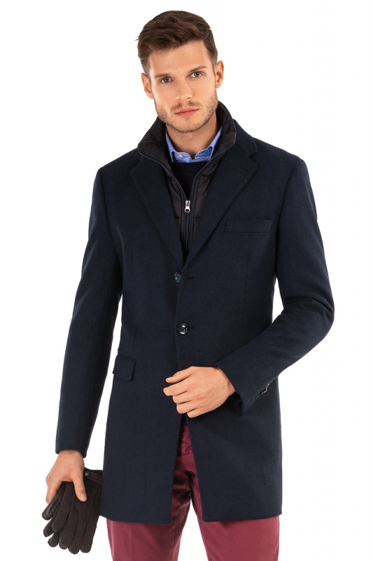 palton bleumarin uni