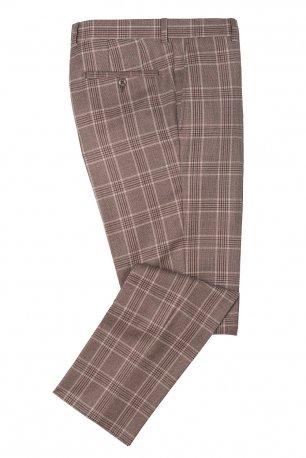 Pantaloni superslim fabian gri in carouri