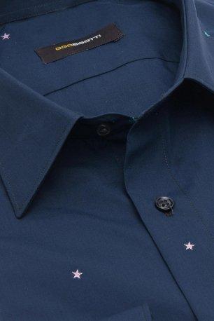 Camasa slim bleumarin print geometric