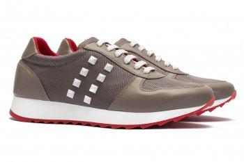 Sneakers Bej Piele naturala si textil