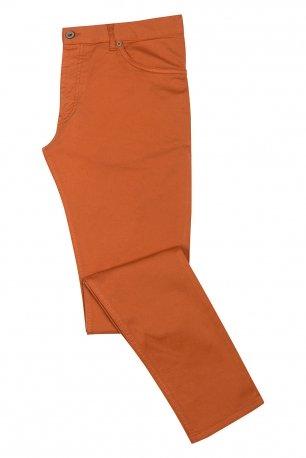 Pantaloni slim caramizii uni