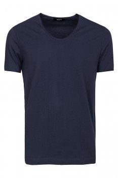 Tricou Bleumarin guler in V