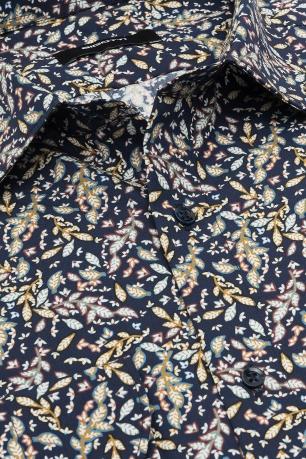 Camasa slim bleumarin print floral
