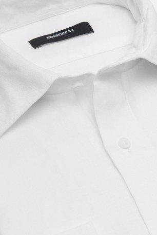 Camasa shaped din in alba uni