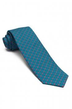 Cravata albastra print geometric