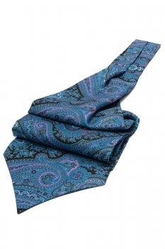 Ascot albastru print floral