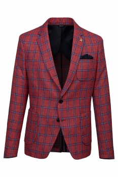 Slim body Red Carouri Blazer