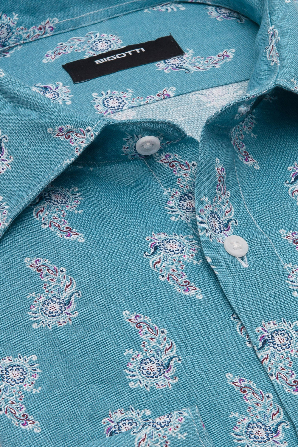 Camasa shaped din in bleu print floral 1