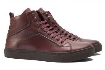 Burgundy Genuine leather boots