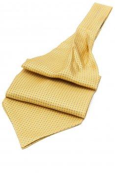 Ascot clasic matase naturala galben print geometric
