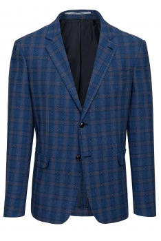Slim Blue Check Blazer