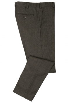 Slim Grey Geometric Trouser