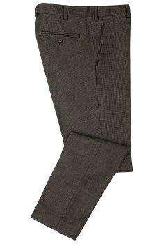 Pantaloni slim conti gri print geometric