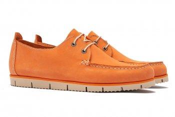 Pantofi Oranj Piele nabuc