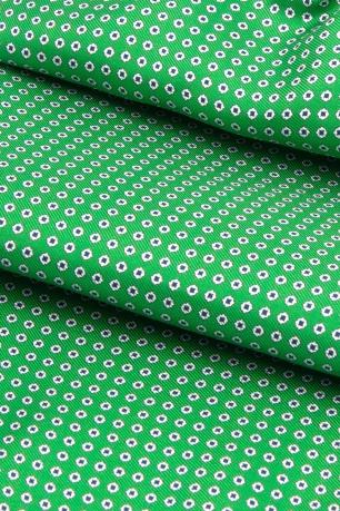 Ascot clasic matase naturala verde print geometric