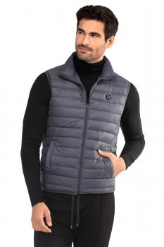 Slim Grey Plain Waistcoat